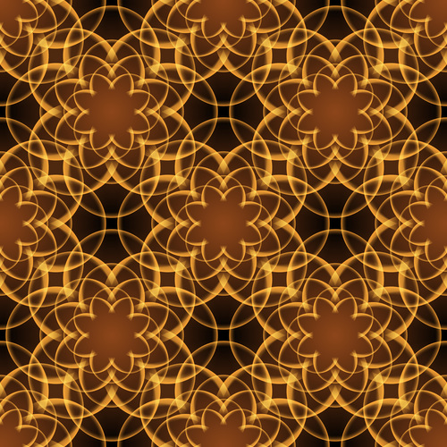 Shininy brown floral pattern vector