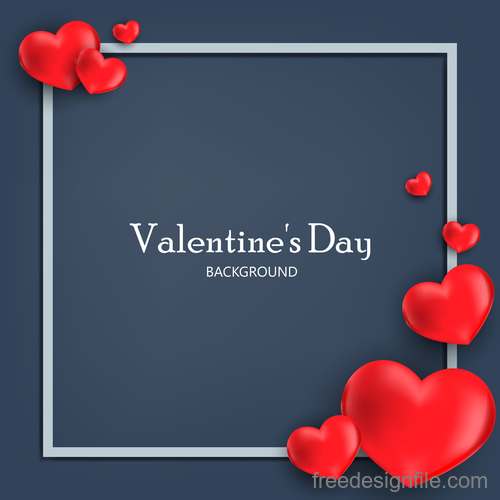 Shiny heart shape with valentines day vectors 01