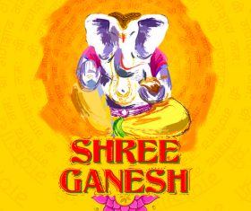 Shree ganesh design vector