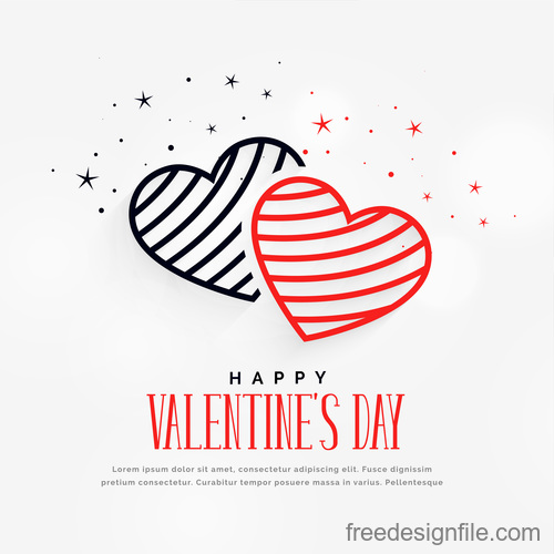Simple valentines day background with heart vector