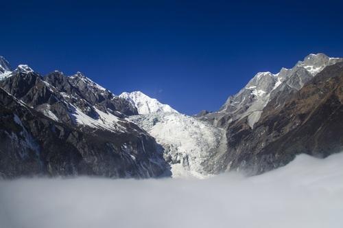 Snow mountain scenery Stock Photo 04