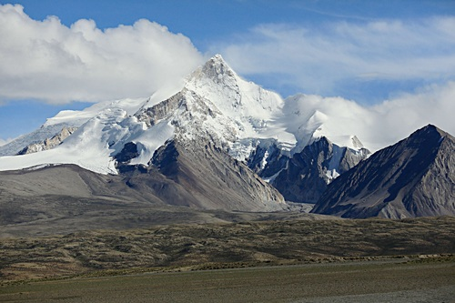 Snow mountain scenery Stock Photo 05