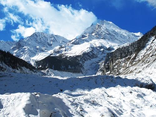 Snow mountain scenery Stock Photo 12