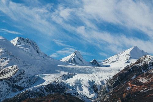 Snow mountain scenery Stock Photo 14