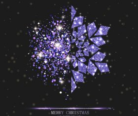 Snowflake christmas background with new year design vector