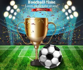Soccer cup design vectors 01