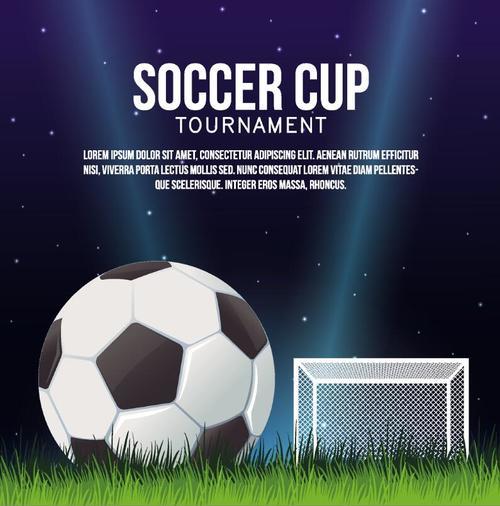 Soccer cup design vectors 02