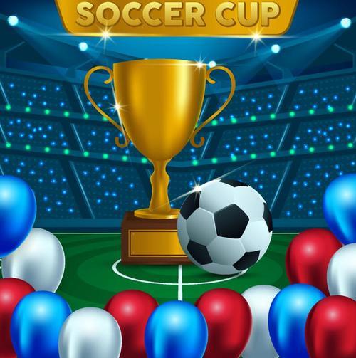 Soccer cup design vectors 03