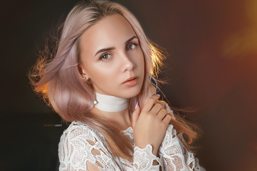 Stock Photo Pure and pretty makeup girl