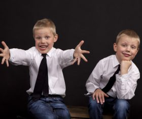 Stock Photo Twin brothers 03