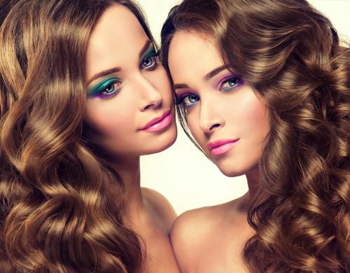 Stock Photo Twin sisters 02