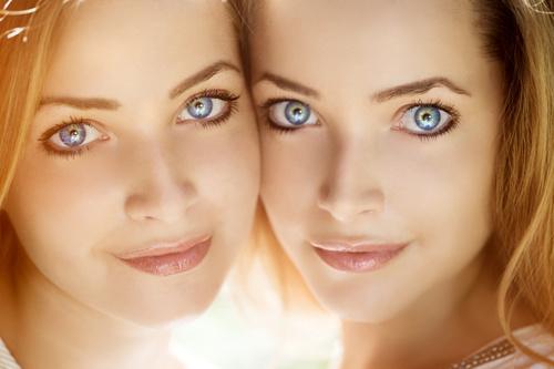 Stock Photo Twin sisters 05
