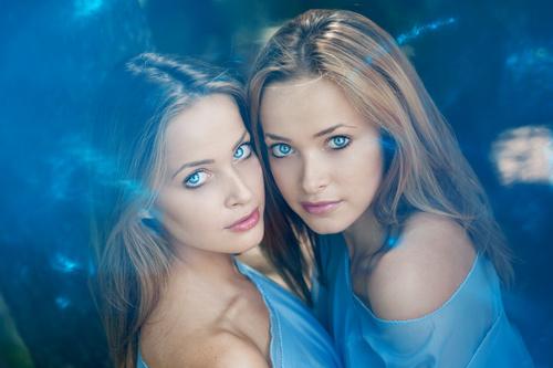 Stock Photo Twin sisters 07