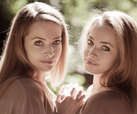 Stock Photo Twin sisters 08