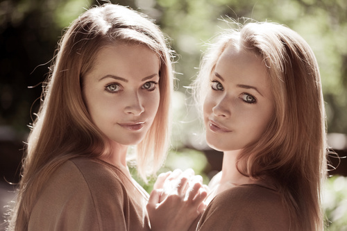 Stock Photo Twin sisters 08