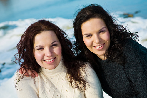 Stock Photo Twin sisters 11