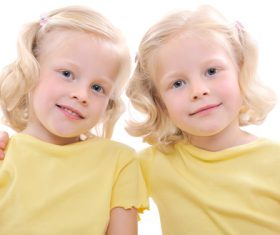 Stock Photo Twin sisters 12