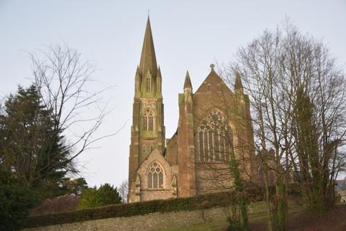 Suburban church building Stock Photo
