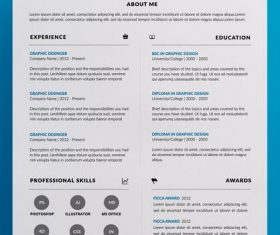 Superior Resume PSD Template