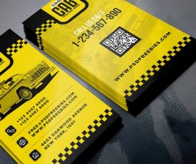 Taxi Cab Service PSD Business Card Template