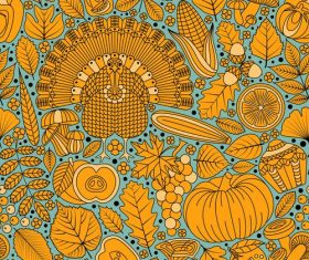 Thanksgiving Day seamless pattern vector