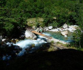 Torrential mountain streams Stock Photo 02