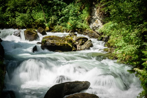 Torrential mountain streams Stock Photo 05