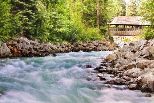 Torrential mountain streams Stock Photo 09