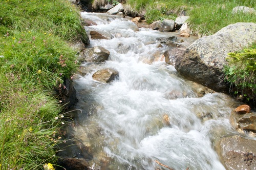 Torrential mountain streams Stock Photo 10