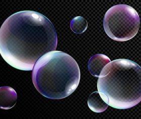 Transparent rainbow bubble vectors