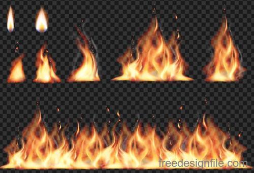 Transparent vector fire