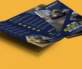 Trifold Business Brochure Cover PSD Template