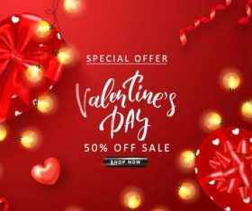 Valentine day discount sale red vectors 03