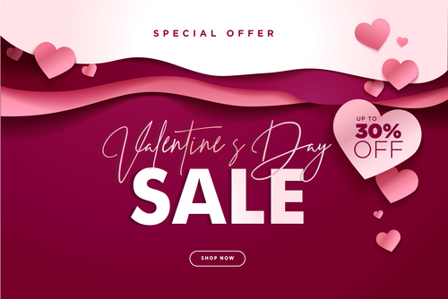 Valentines day big sale design vector 01