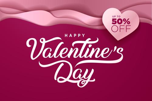 Valentines day big sale design vector 03