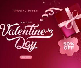 Valentines day big sale design vector 04