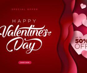 Valentines day big sale design vector 05