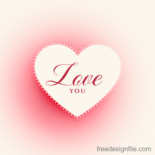Valentines day blurs background with heart vector