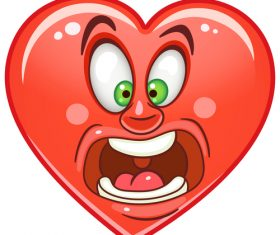 Valentines day heart emoticon design vector 02