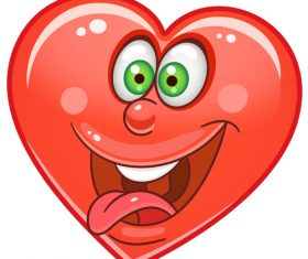 Valentines day heart emoticon design vector 04