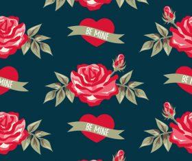 Valentines day pattern seamless vectors set 01