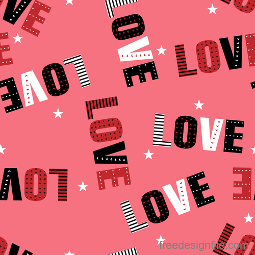Valentines day pattern seamless vectors set 03