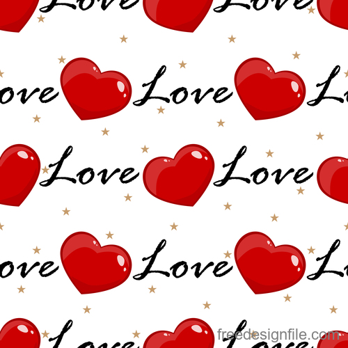 Valentines day pattern seamless vectors set 04