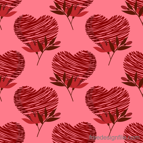 Valentines day pattern seamless vectors set 05