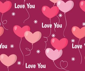 Valentines day pattern seamless vectors set 07