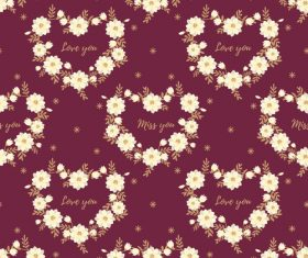 Valentines day pattern seamless vectors set 08