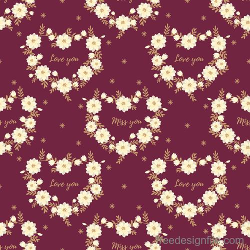 Valentines day pattern seamless vectors set 08