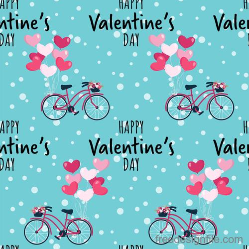 Valentines day pattern seamless vectors set 09