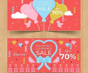 Valentines day sale discount coupon vector 01