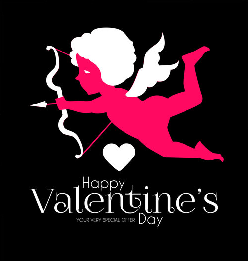 Valentines day sale discount poster vectors 02